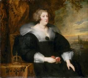 Portrait Marie de Médicis, reine de France (Van Dyck Antoon) - Muzeo.com