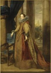 Portrait présumé de la marquise Geromina Spinola-Doria, de Gênes (Antoon van Dyck) - Muzeo.com