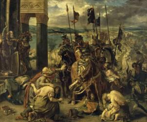 Prise de Constantinople par les croisés (12 avril 1204) (Delacroix Eugène) - Muzeo.com