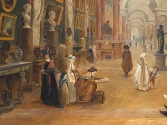 Projet d'aménagement de la Grande Galerie du Louvre en 1796 (Robert Hubert) - Muzeo.com