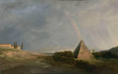 Pyramide et Arc-en-ciel (Pierre Henri de Valenciennes) - Muzeo.com