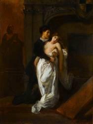 Roméo et Juliette devant le tombeau des Capulets (Delacroix Eugène) - Muzeo.com
