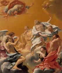 Saint Eustache et sa famille porté au ciel dit aussi L'Apothéose de saint Eustache et de sa famille (Vouet Simon) - Muzeo.com