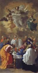 Saint François-Xavier rappelant à la vie la fille d'un habitant de Cangoxima au Japon (Poussin Nicolas) - Muzeo.com
