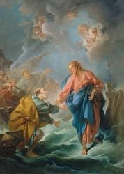 Saint Pierre tentant de marcher sur les eaux (Boucher François) - Muzeo.com