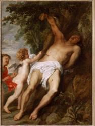 Saint Sébastien secouru par les anges (Antoon van Dyck) - Muzeo.com