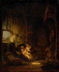Sainte Famille dite aussi le ménage du menuisier (Rembrandt Harmensz van Rijn) - Muzeo.com