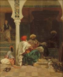 Tailleurs devant la mosquée (Fromentin Eugène) - Muzeo.com