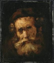 Un rabbin (Rembrandt Harmensz van Rijn) - Muzeo.com