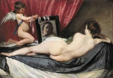 Venus at her mirror (Diego Velázquez) - Muzeo.com