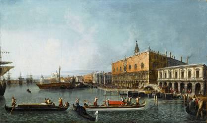 Vue du palais ducal et du môle à Venise (Canaletto Antonio) - Muzeo.com