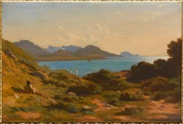 Vue prise à Montredon, près de Marseille (Flandrin Hippolyte) - Muzeo.com
