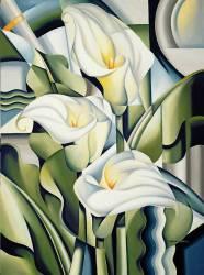 Cubist Lilies (Catherine Abel) - Muzeo.com