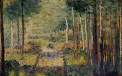 Allée en forêt, Barbizon (Seurat Georges) - Muzeo.com