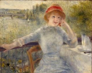 Alphonsine Fournaise dit jadis A la Grenouillère (Renoir Auguste) - Muzeo.com