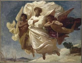 Apothéose d'un saint ou Esquisse : [sujet indéterminé], enlèvement d'un corps par un groupe d'anges (Bonnat Léon Joseph Florentin) - Muzeo.com