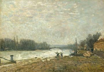Après la débâcle, la Seine au pont de Suresnes (Sisley Alfred) - Muzeo.com