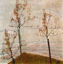 Autumn Trees (Schiele Egon) - Muzeo.com