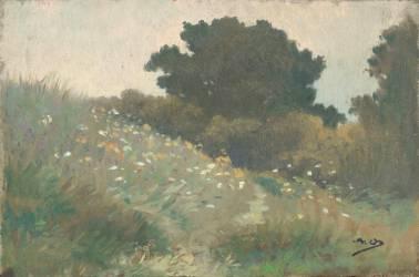Arbres sur la dune, Carolles (Osbert Alphonse) - Muzeo.com