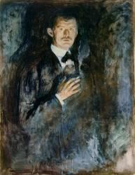 Self Portrait with Cigarette (Munch Edvard) - Muzeo.com