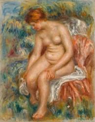 Baigneuse assise (Renoir Auguste) - Muzeo.com