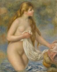 Baigneuse aux cheveux longs (Renoir Auguste) - Muzeo.com