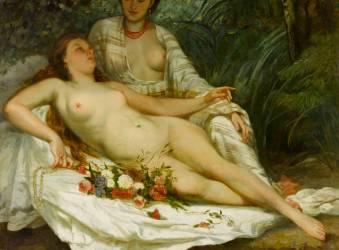Baigneuses, dit aussi Deux femmes nues (Courbet Gustave) - Muzeo.com