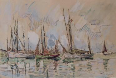 Bateaux de pêche dans le port de Lorient (Signac Paul) - Muzeo.com