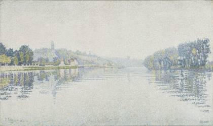 Bords de rivière, la Seine à Herblay (Signac Paul) - Muzeo.com