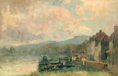 Bords de Seine à Croisset, près de Rouen (Lebourg Albert) - Muzeo.com