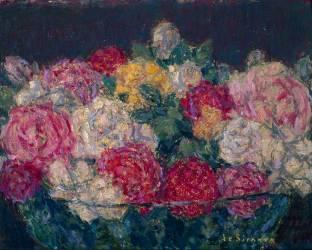 Bouquet de roses (Le Sidaner Henri) - Muzeo.com