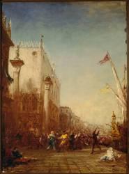 Carnaval à Venise, quai des Esclavons (Ziem Félix) - Muzeo.com