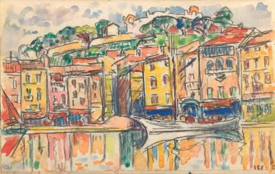 Carnet : Port d'une ville de la côte Méditérranéenne (Paul Signac) - Muzeo.com
