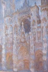 Cathédrale de Rouen, le portail, soleil matinal harmonie bleue (Monet Claude) - Muzeo.com