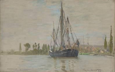 Chasse-marée à l'ancre, près de Rouen (Monet Claude) - Muzeo.com