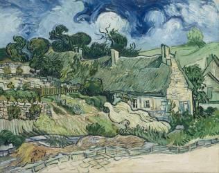Thatched Cottages at Cordeville, Auvers-sur-Oise (Van Gogh Vincent) - Muzeo.com
