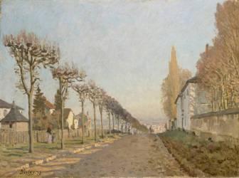 Chemin de la Machine, Louveciennes (Sisley Alfred) - Muzeo.com
