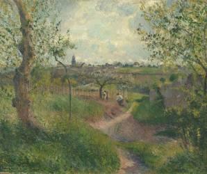 Chemin montant à travers champs. Côte des Grouettes, Pontoise (Pissarro Camille) - Muzeo.com