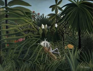 Cheval attaque par un jaguar (Henri Rousseau (dit le...) - Muzeo.com