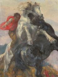 Chevaux affrontés (Roll Alfred) - Muzeo.com
