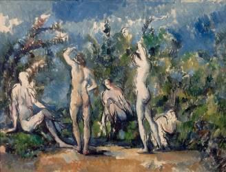Cinq baigneurs (Cézanne Paul) - Muzeo.com