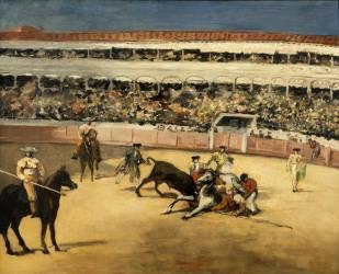 Combat de taureaux (Manet Edouard) - Muzeo.com