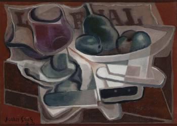 Compotier et verre (Gris Juan) - Muzeo.com