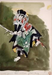 Copie d'après un album japonais : acteur de Kabuki (Moreau Gustave) - Muzeo.com