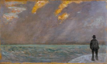 Coucher de soleil sur la mer (Giovanni Fattori) - Muzeo.com