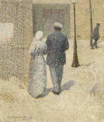 Couple dans la rue (Charles Angrand) - Muzeo.com