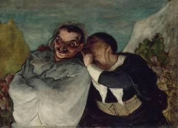 Crispin et Scapin dit aussi Scapin et Silvestre (Daumier Honoré) - Muzeo.com