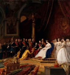 Détail de la Réception des ambassadeurs du Siam par Napoléon III et l'impératrice Eugénie (Gerôme Jean Léon) - Muzeo.com