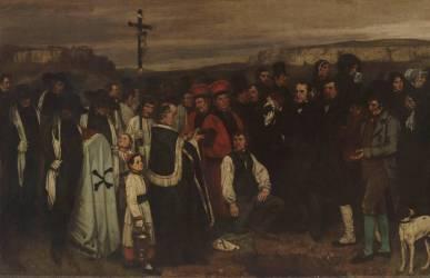 Détail d'un enterrement à Ornans (Courbet Gustave) - Muzeo.com