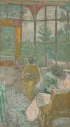 Deux femmes brodant sous une véranda (Vuillard Edouard) - Muzeo.com